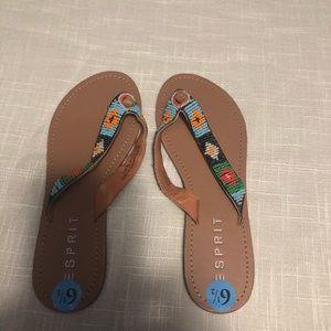 Esprit beaded multicolor flat sandals